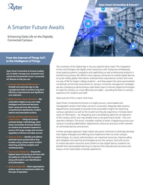 Zyter SmartSpaces for Universities Data Sheet